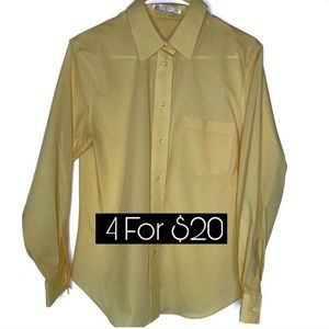 Foxcroft Wrinkle Free Career Shirt 12p Yellow